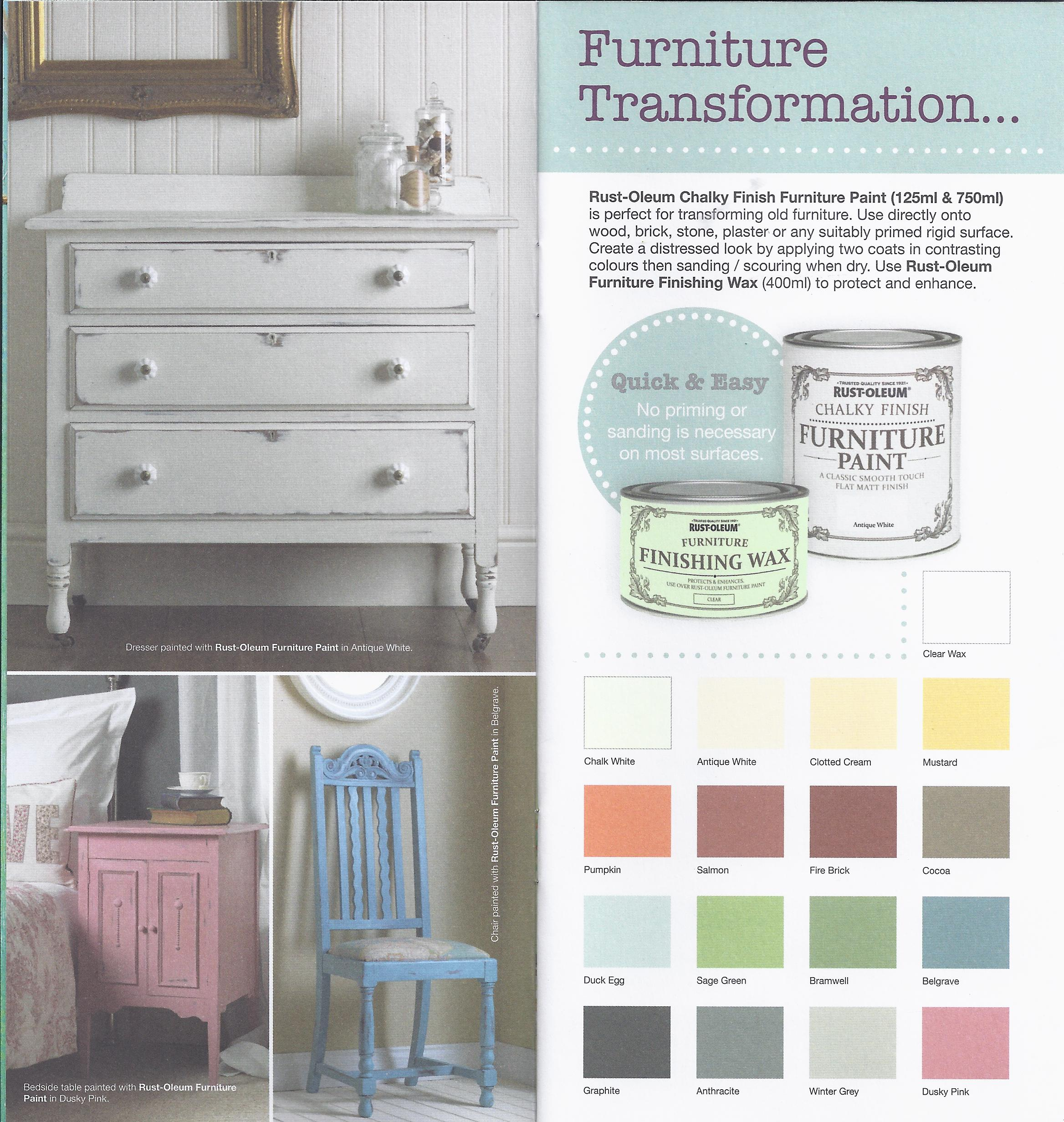 Chalk Finish Furniture Paint